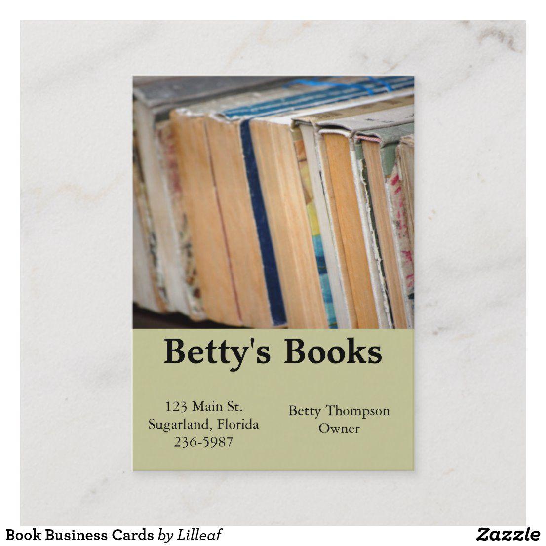 Book Business Cards Zazzle Com Books Business Card Books Card Book