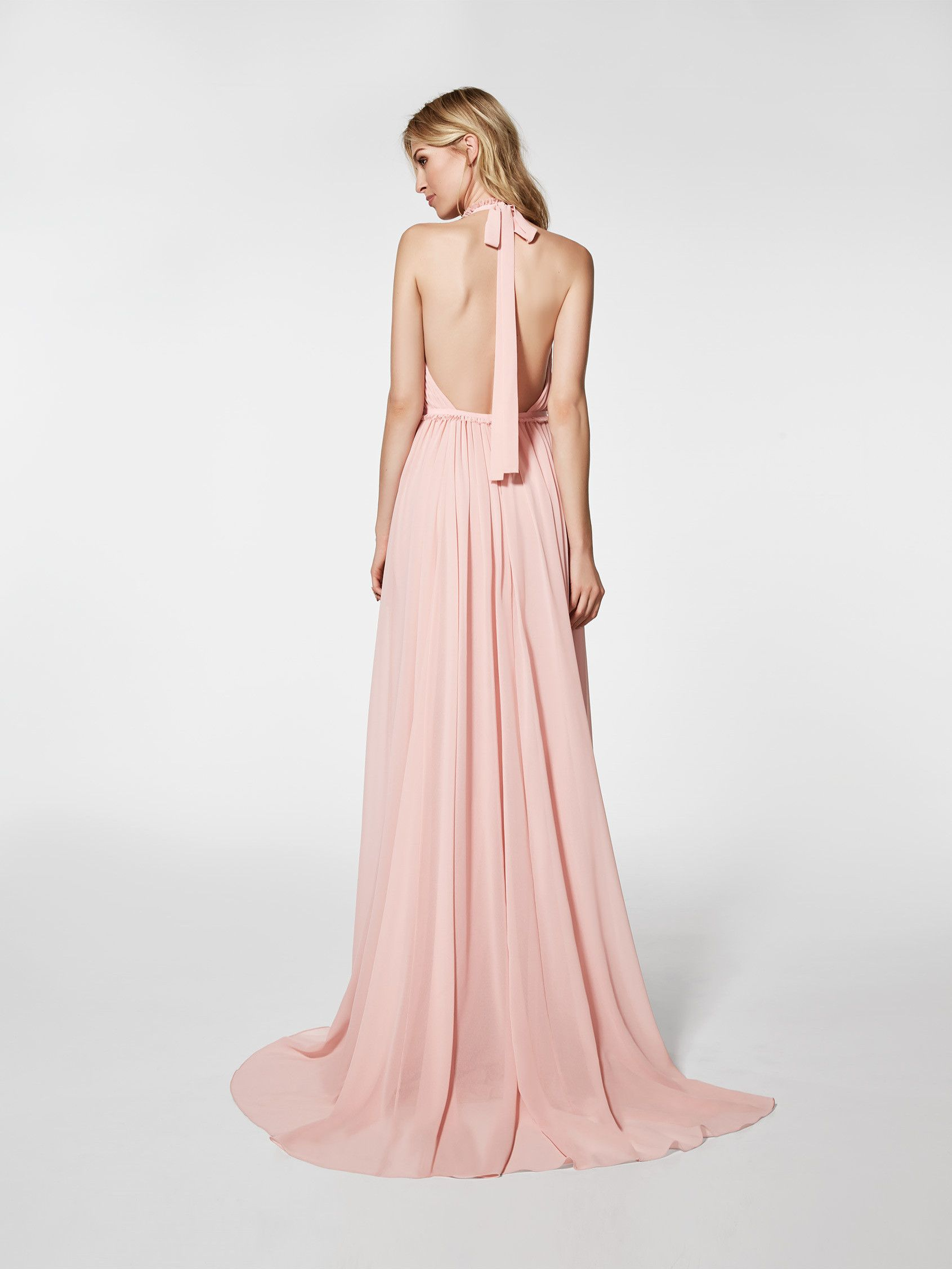 Vestido de fiesta rosa pálido - Vestido largo GRAMOE - sin mangas ...