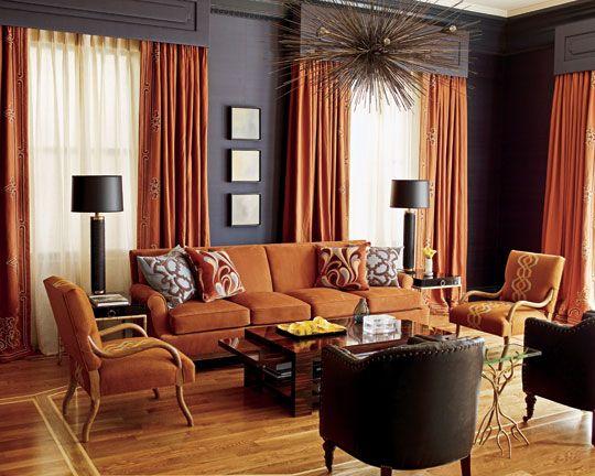 Colorful Living Rooms Living Room Orange Burnt Orange Living