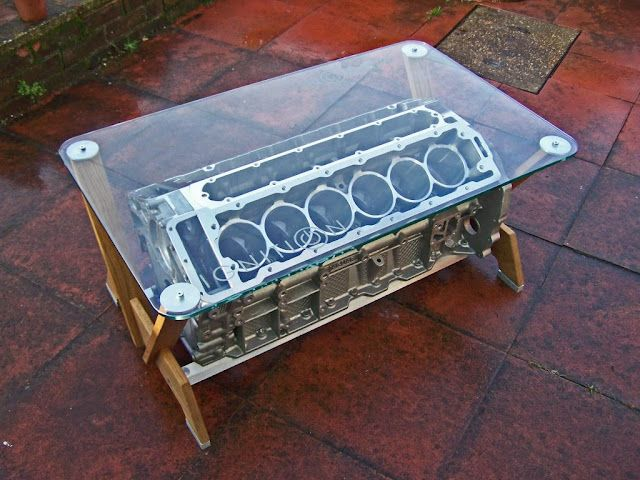 Coffee table made from an old engine, a la the one from ...