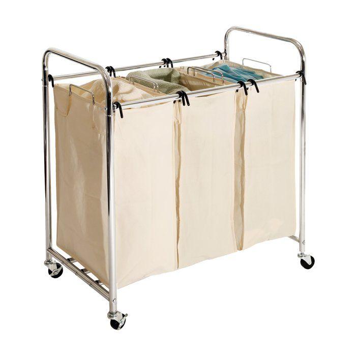 Basics 3 Bag Laundry Sorter With Images Laundry Sorter