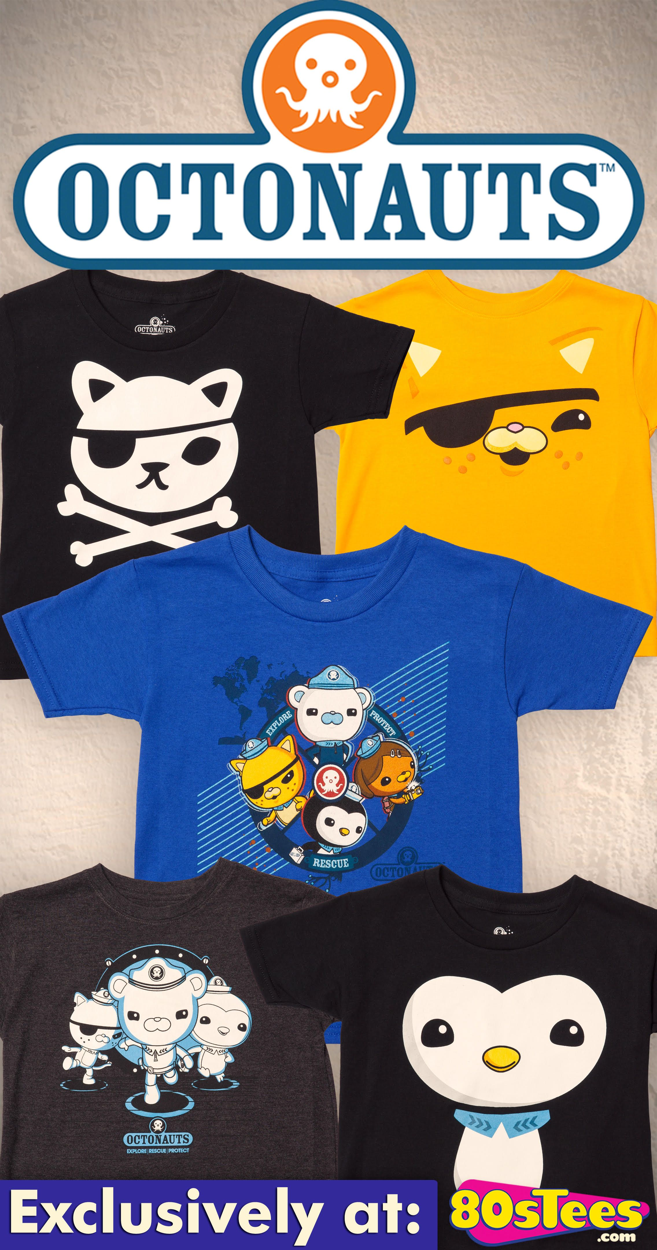 Officially Licensed Octonauts T-Shirts for Boys and Girls, Toddlers ...