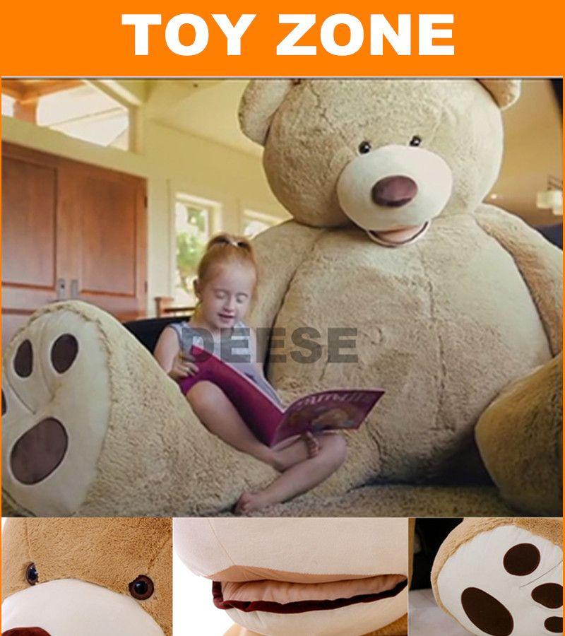 200 cm juguetes de Peluche de la piel EE. UU. abrigo de oso de