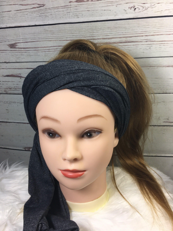 bead5ee1f553 Gray Turban Headband