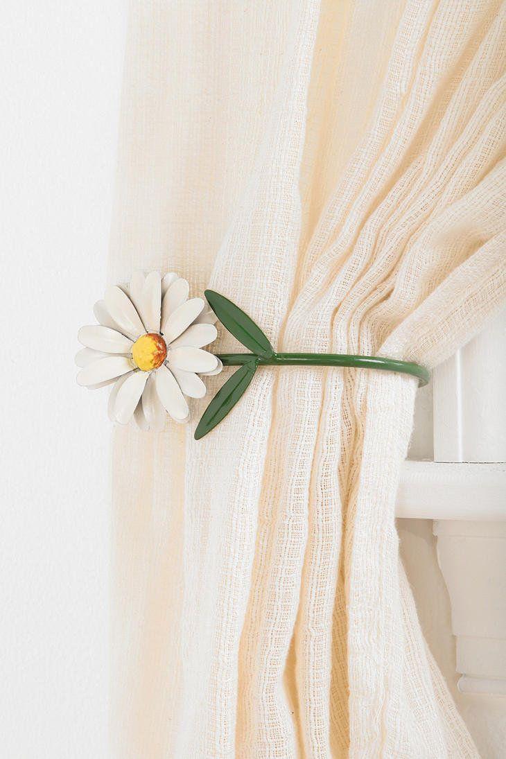 Urban Outfitters Daisy Curtain Tie Back Curtain Tie Backs