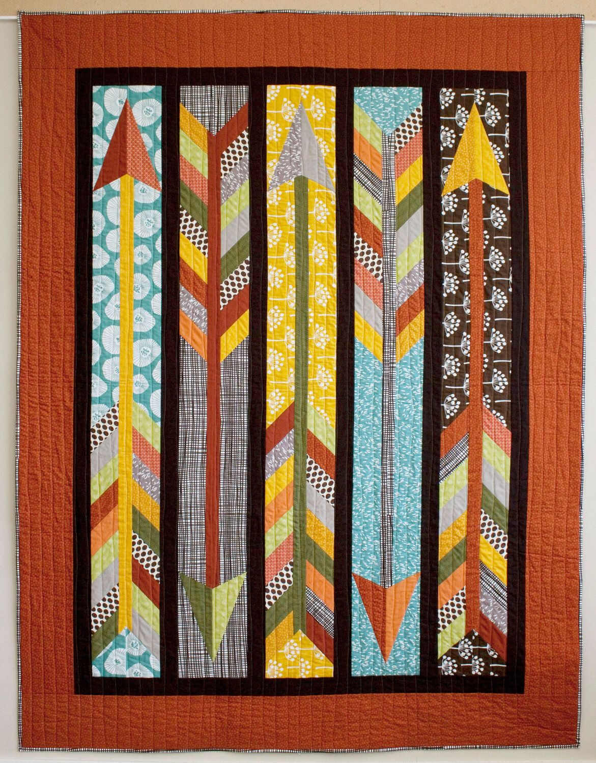 Straight as an Arrow PDF Quilt Pattern by NOTyourrunofthemill on Etsy https://www.etsy.com/listing/104551330/straight-as-an-arrow-pdf-quilt-pattern