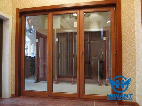 Wood Grain Aluminium Profile Windows And Doors For Interior Finish Aluminium Windows And Doors Windows And Doors Casement Windows