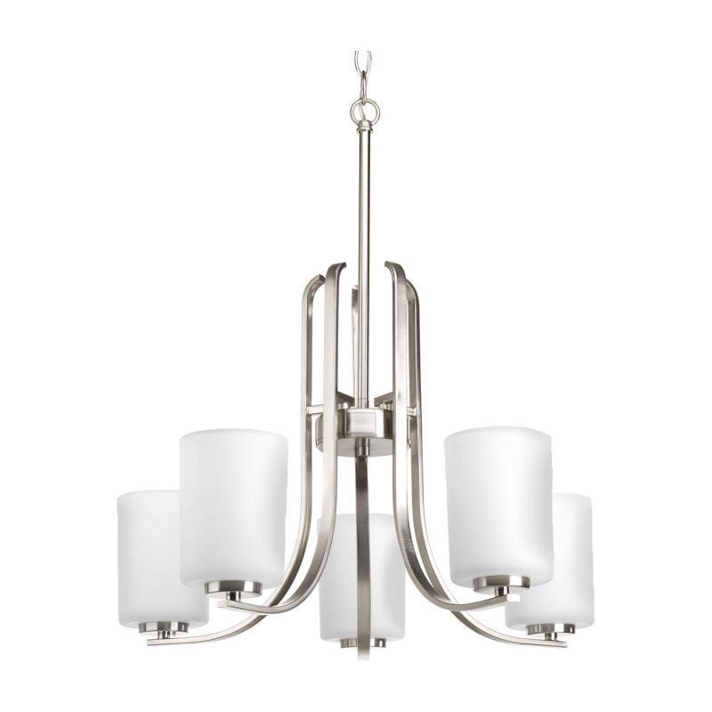 Miseno MLIT-11046-CH5 Bovio Five Light Chandelier Brushed Nickel Indoor Lighting Chandeliers 5 Light
