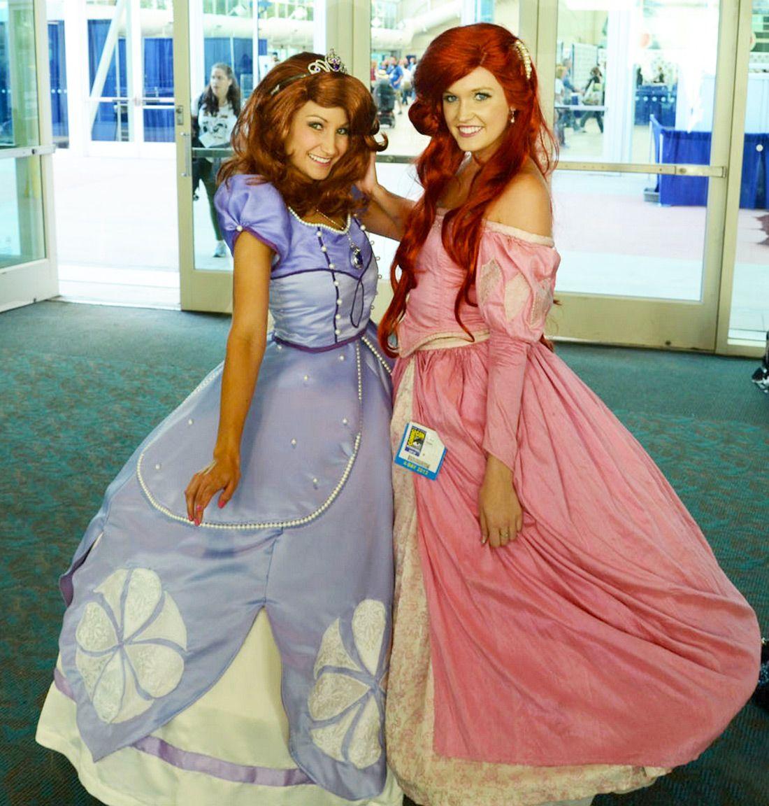 Sofia the first ariel disney cosplay sdcc 2013 - Princesse sofia et ariel ...