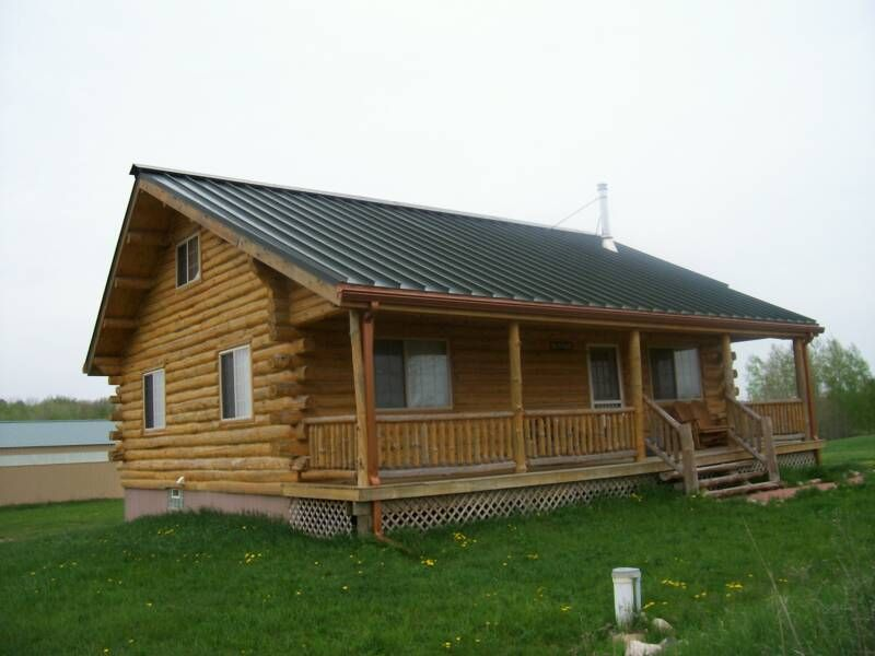 very simple but affordable.... Log home builders, Cheap