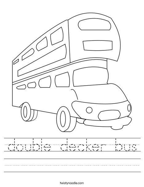 double decker bus Worksheet - Twisty Noodle | Double ...