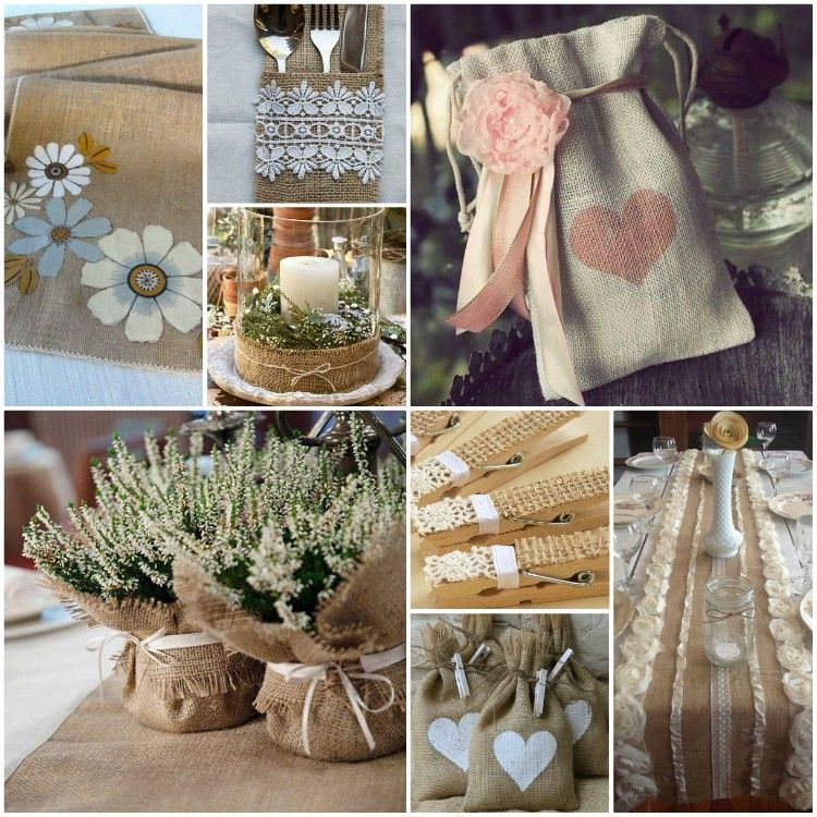 Cool decorating ideas with burlap and lace Home decor Pinterest