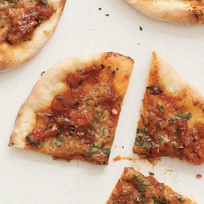 Our take on Turkish street food: Herbed Cheese Pizzas | CookingLight.com