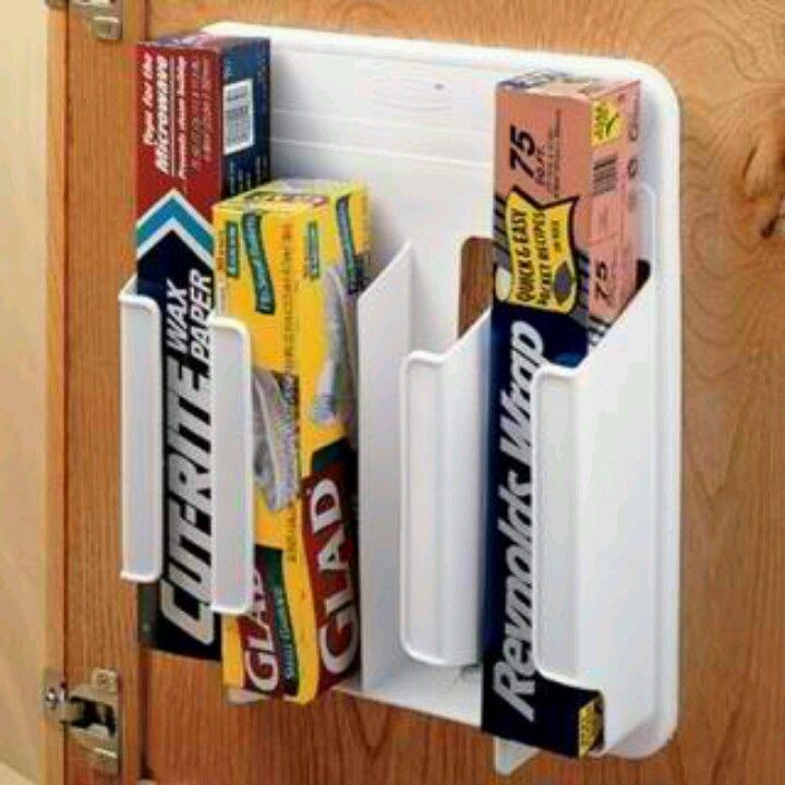 Aluminum Saran Wrap Amp Wax Paper Holder Organize
