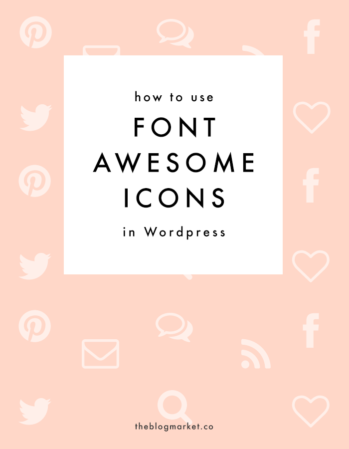 Font Awesome Tutorial for Wordpress | Escuela, Blog y Coser