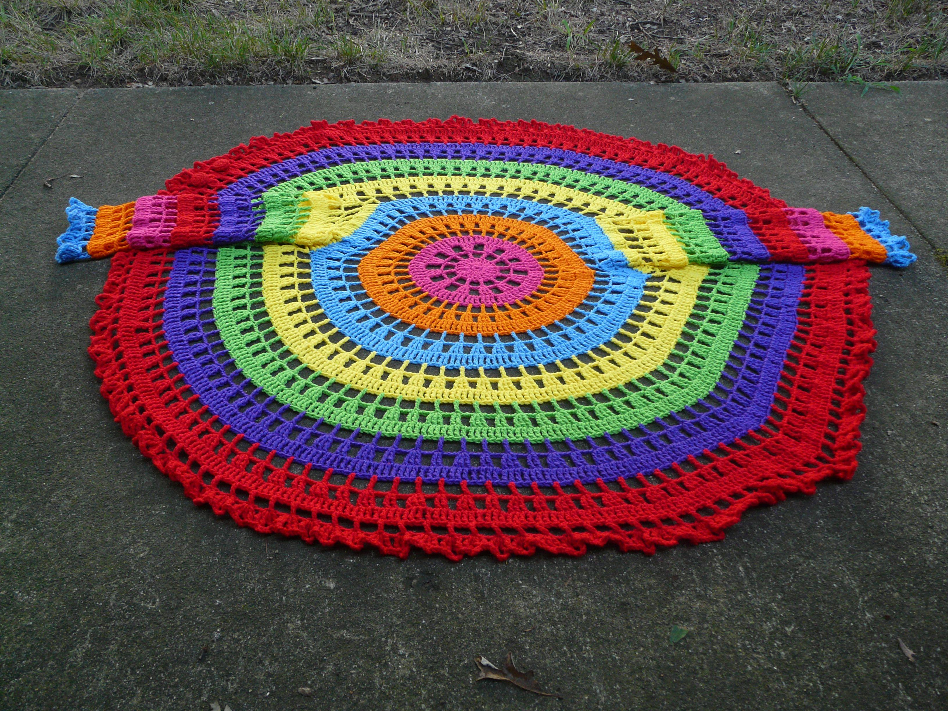 My psychedelic circle jacket | Häkeln, Poncho stricken und Stricken ...
