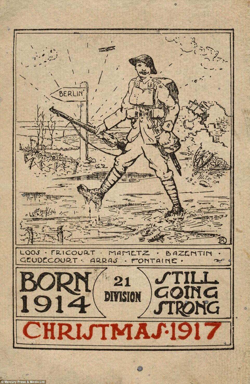 Christmas 1917 (With images) Military greeting card