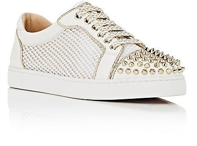 Womens AC Viera Spikes Flat Leather & Mesh Sneakers Christian Louboutin rEcIiIvpja