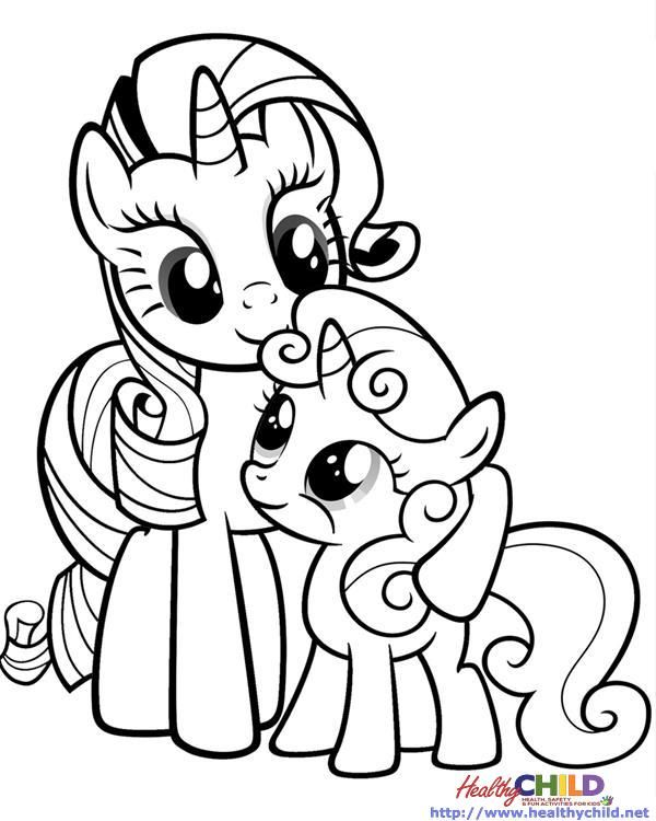 Imgs For My Little Pony Coloring Pages Rarity