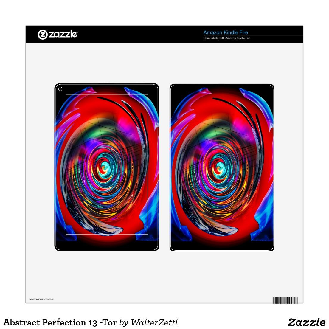 Abstract Perfection 13 -Tor Kindle Fire Decal