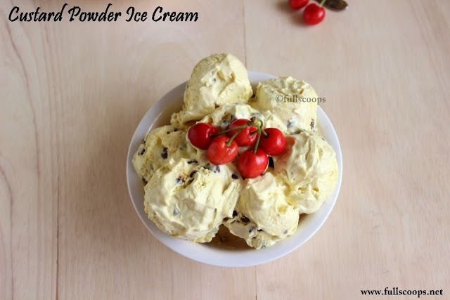 Custard Powder Ice Cream #easyhomemadeicecream