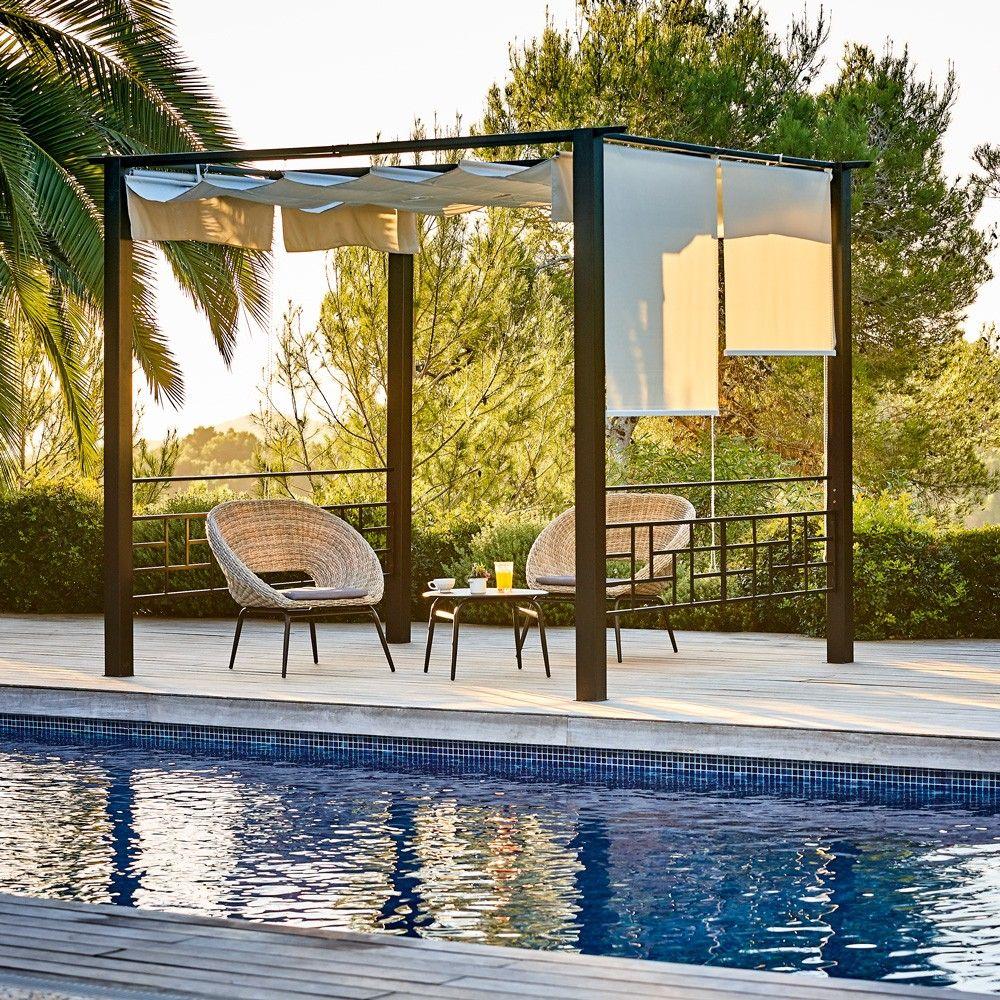 Tonnelle et pergola | Salon de jardin gifi, Mobilier jardin ...
