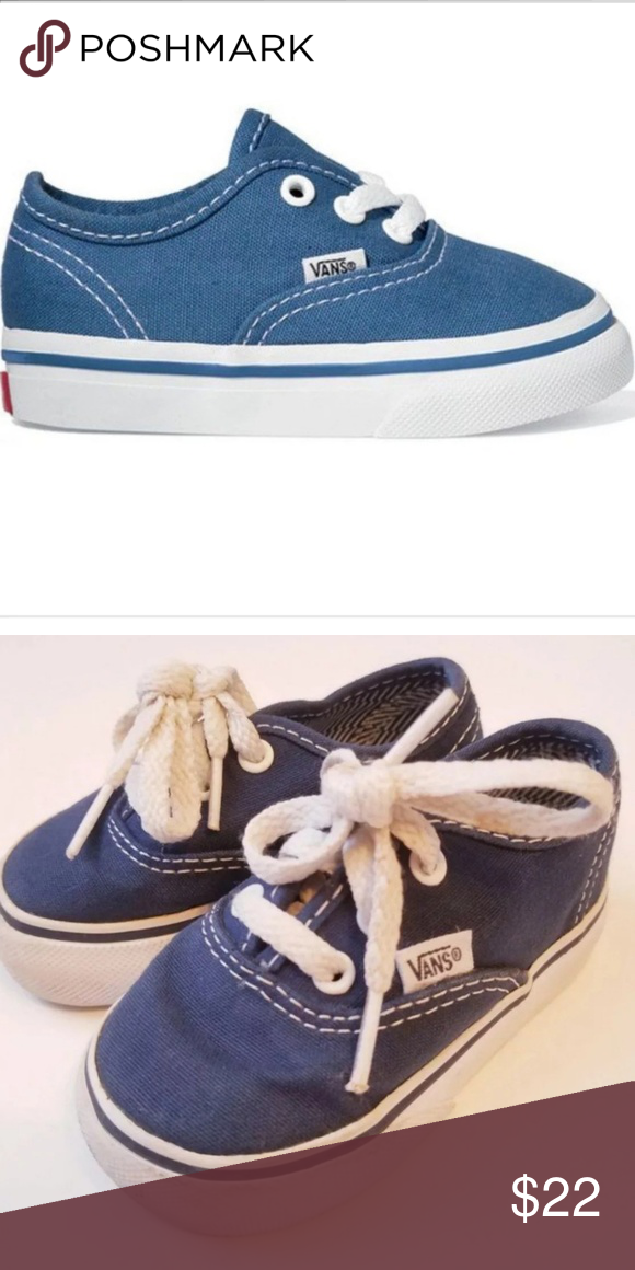 274b49254a4 Toddler Navy Vans Size 4 Baby Toddler Vans Size 4 Navy and white Super  great condition