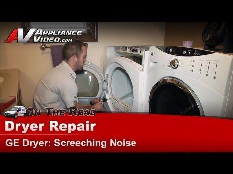 Ge Dryer Repair Screeching Noise Dcvh515ef0ww Youtube