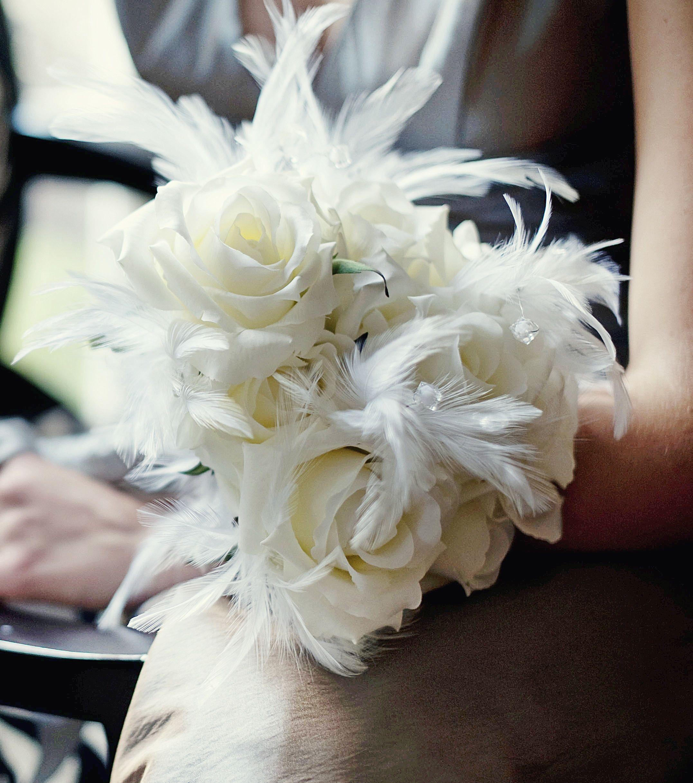 Wedding decorations accessories  Feather Pick in White  Wedding Design Supplies  Bouquet
