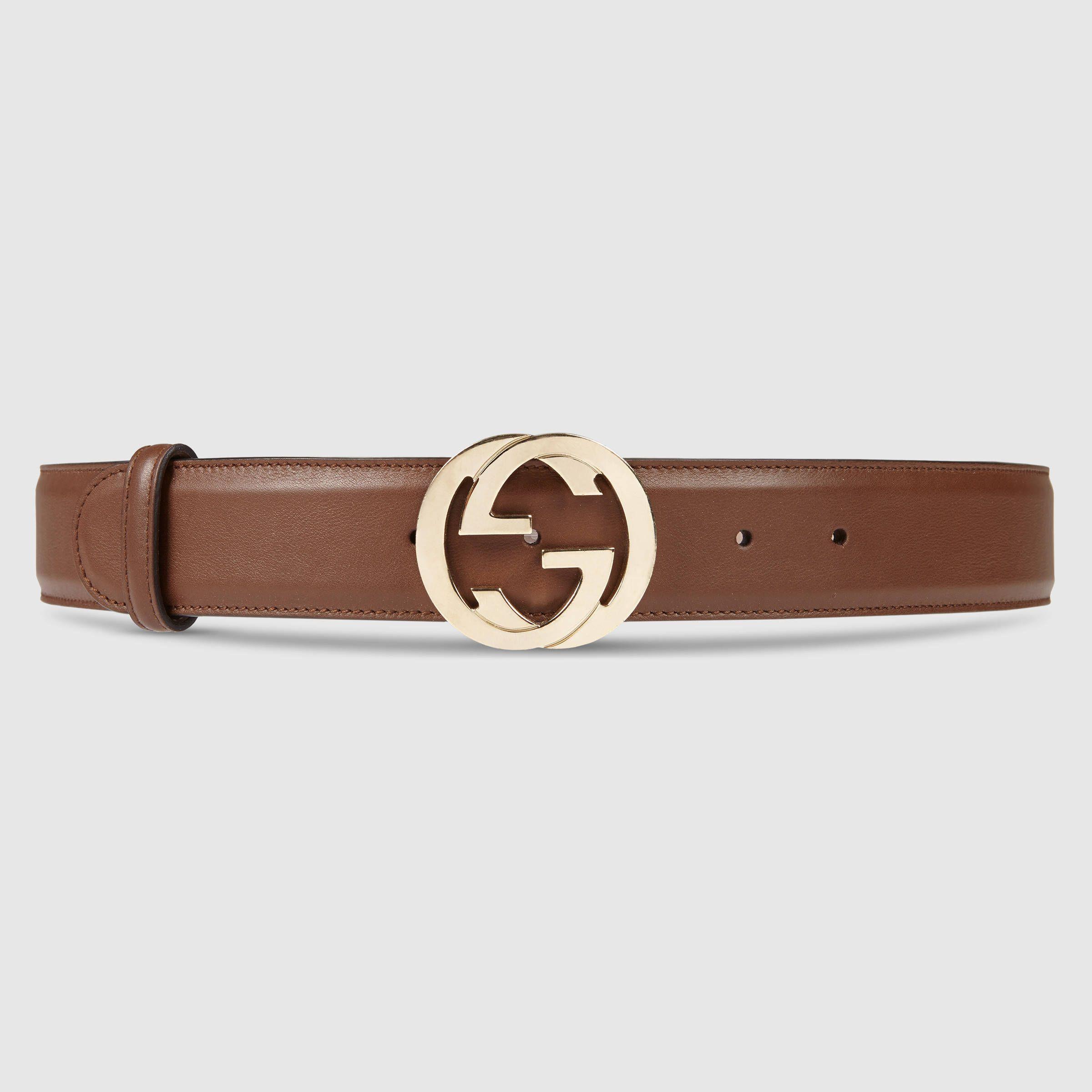 Gucci Leather belt with interlocking G #silvesteroutfitdamen