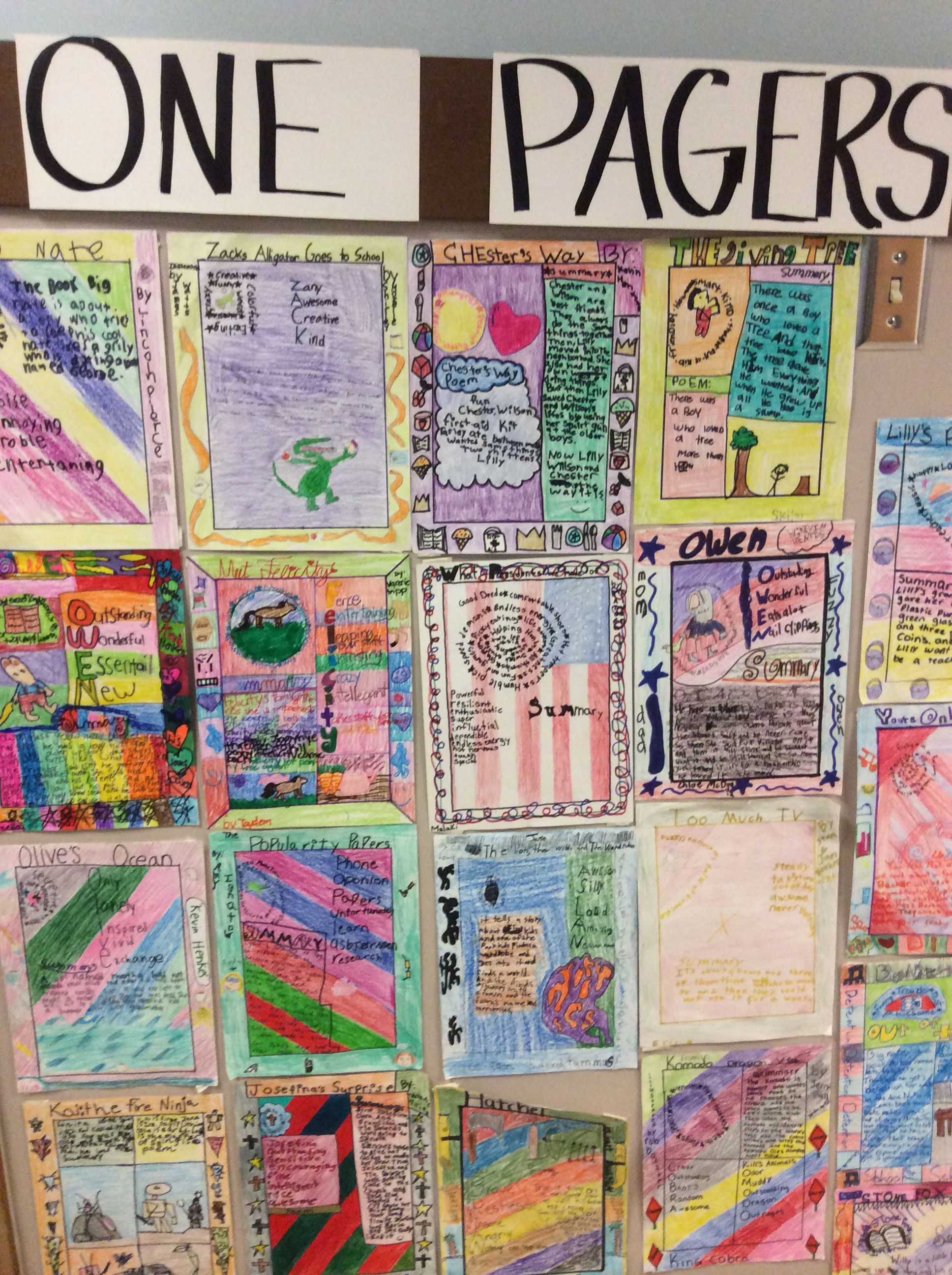 Inquiry One Pagers Posted On The Bulletin Board