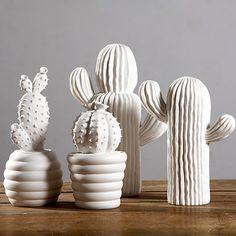 Cactus white ceramic ornaments creative home decorations modern minimalist living room furnishings