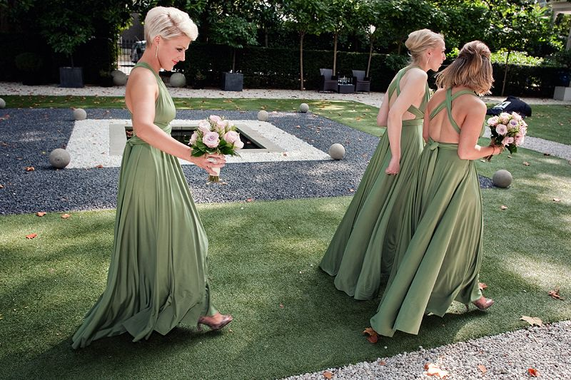 Olive Green Ballgowns Twobirds Bridesmaid Dresses A Beautiful Wedding Featuring Our Multiway Convertible