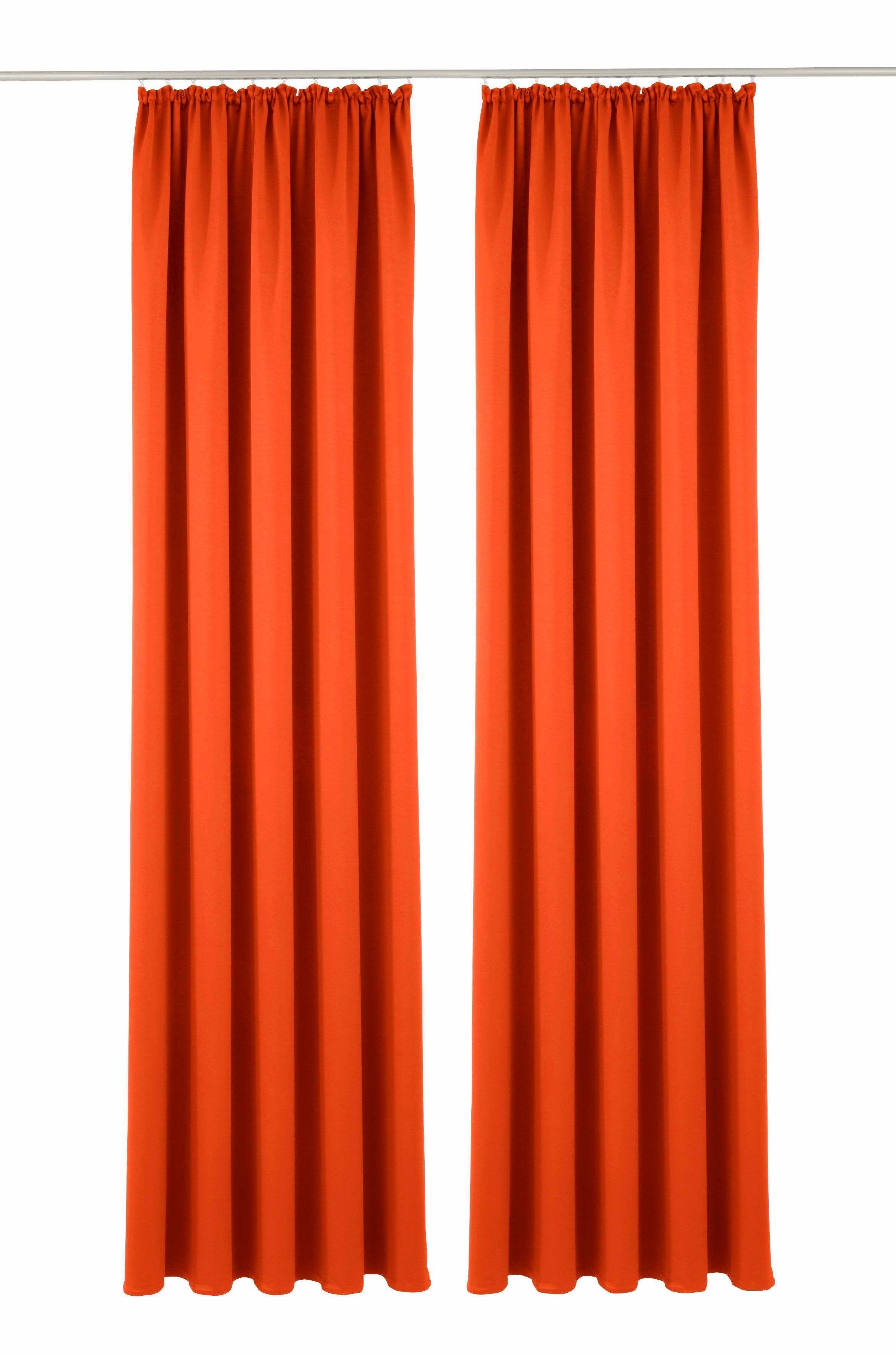My Home Gardinen my home gardine orange 2x h b 295 140cm solana jetzt bestellen