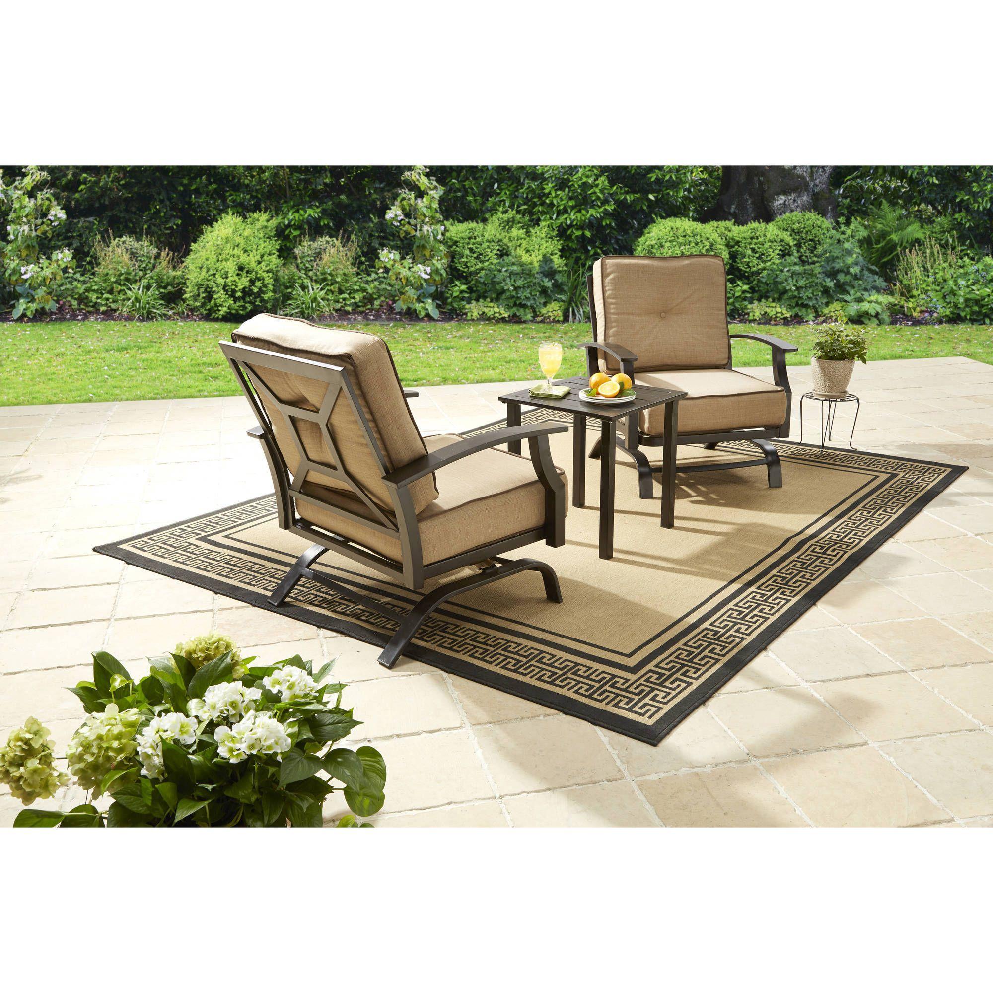Delicieux Better Homes And Gardens Carter Hills 3 Piece Outdoor Chat Set   Walmart.com