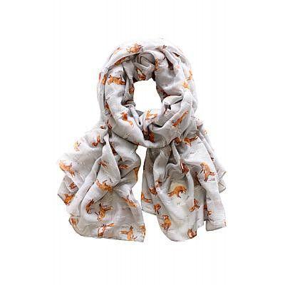 Foxes scarf // $28 // Arco Avenue // Fall 2014 // #animalprint #unique