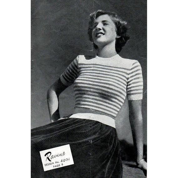 1940s Vintage Knitting Patterns   Knitting patterns ...