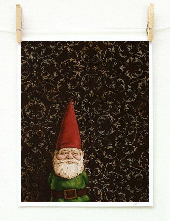Portrait of a Gnome print 11x14. $32.00, via Etsy.