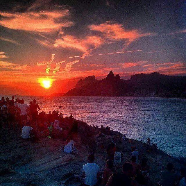 Por do sol no Rio de Janeiro
