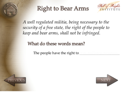 Bill of Rights game. SMART Exchange - USA - Fight 4 Ur Rights!