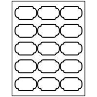 image regarding Oval Printable Labels referred to as No cost Avery® Templates - Scroll Oval Labels, 15 for each sheet
