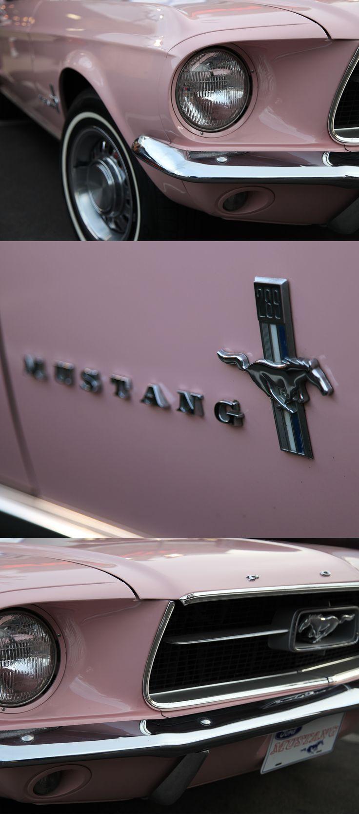 1967 Ford Mustang. Eines der originalen 1.066 bemalten Dusk Rose. Noch ein rosa Pon ...   - cars -