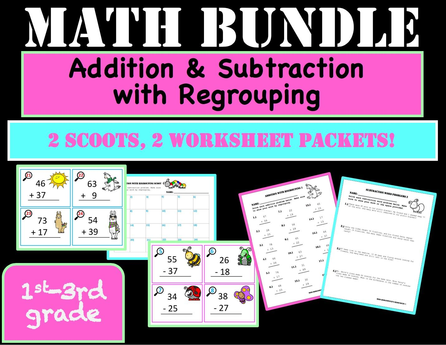 Addition And Subtraction With Regrouping Bundle 2