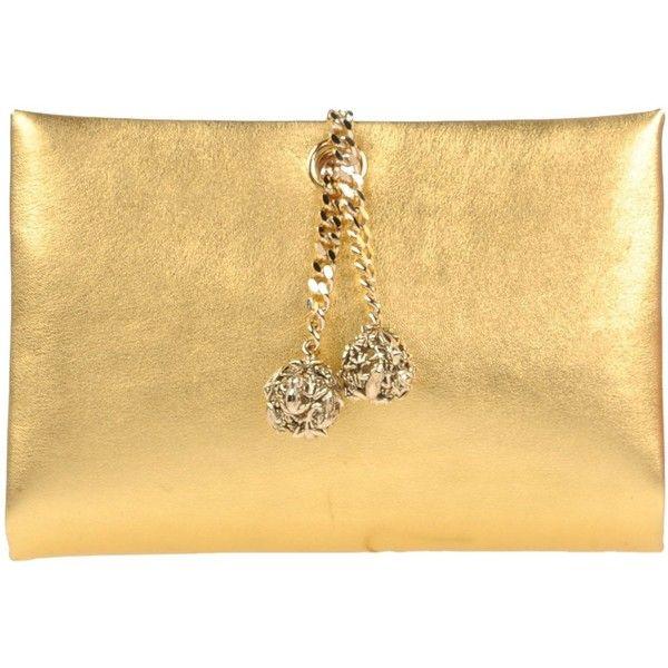 1442089d8 Roberto Cavalli Handbag ($675) ❤ liked on Polyvore featuring bags,  handbags, clutches, platinum, roberto cavalli purse, beige purse, mini  pochette, ...