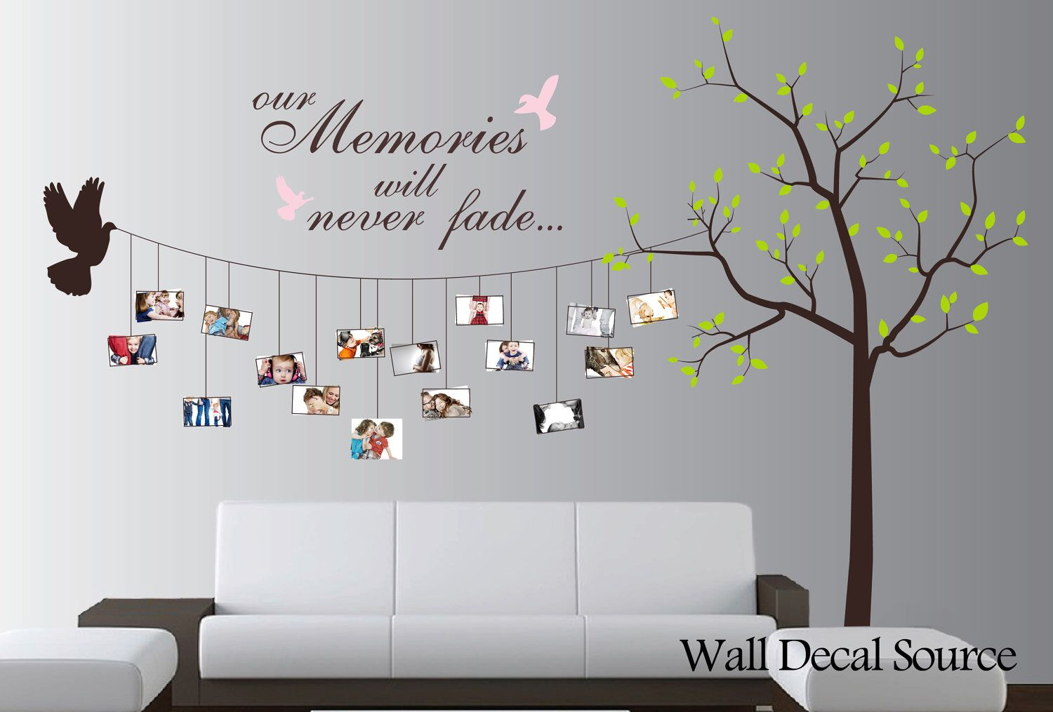 Photo Tree Wall Decal Nursery Tree Decal Vinyl Wall Decal Nursery Wall Decals Tree Family Tree Wall Art Wall Stickers Living Room #tree #wall #decals #for #living #room