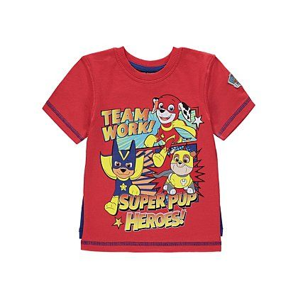 ce830fe9d7c00 Paw Patrol Super Pup Two Way T-shirt | Kids | George at ASDA | Paw ...