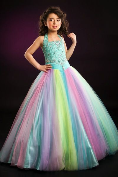 bb8d9da76f35c Rainbow Tulle Perfect Angels Girls Pageant Dress 1366 by Party Time ...