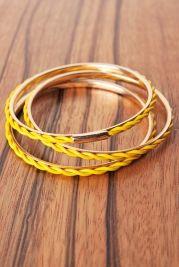 Canary Bangle Bracelets
