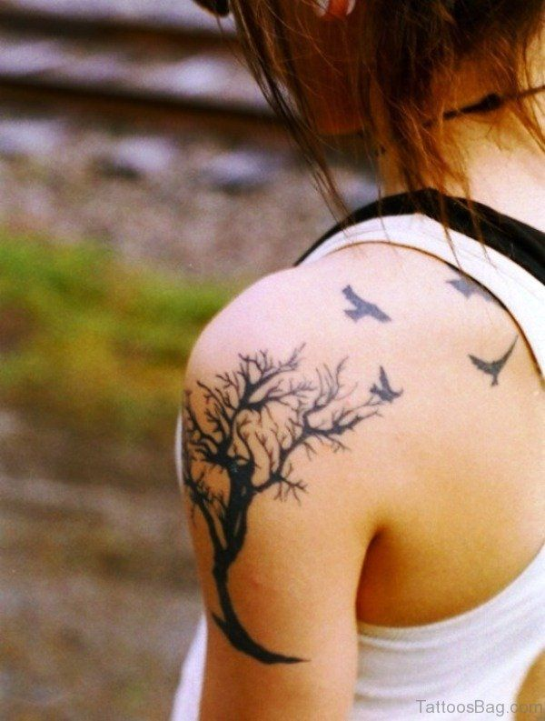 Tree and bird tattoo - Tattooimages.biz