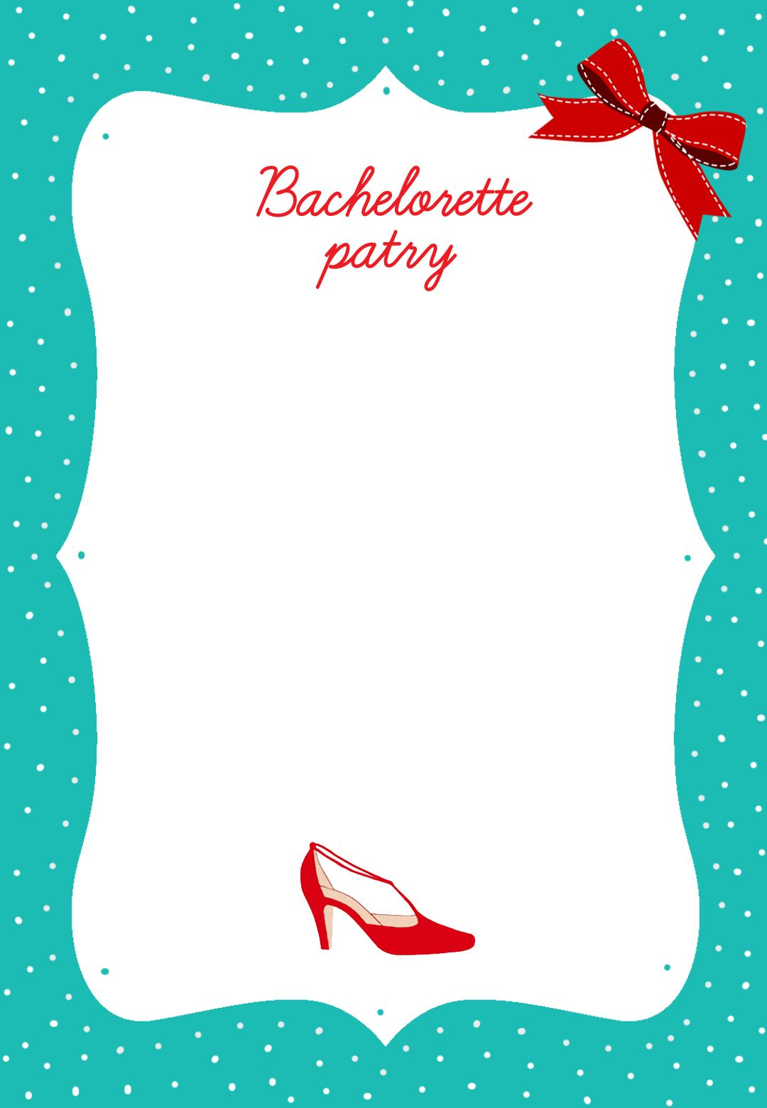 This Is An Adorable Bachelorette Party Invitation And Its Free Just Customize It On